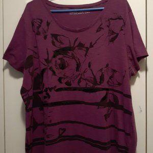 Pennington Purple With Black Design T-Shirt